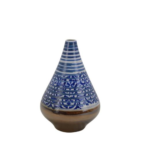 Ceramic Vase with Bronze Bottom