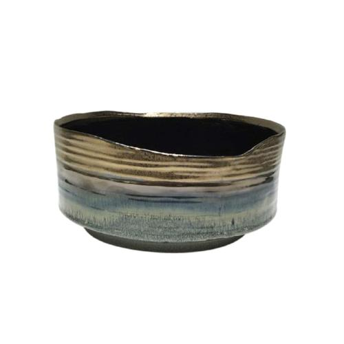 Ceramic Planter, Metallic Purple
