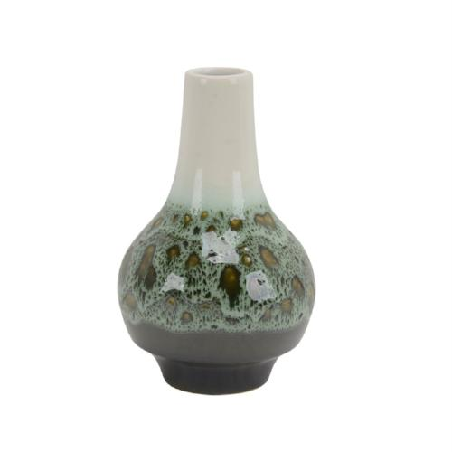 "Ceramic 10"" Bottle Vase, Green-mix"