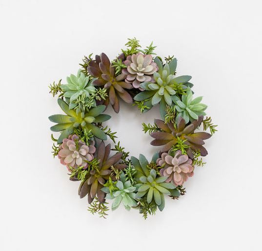 Faux Succulent Wreath