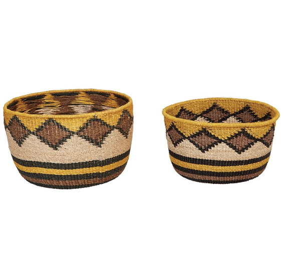 Hand-Woven Abaca Baskets - 2 Sizes