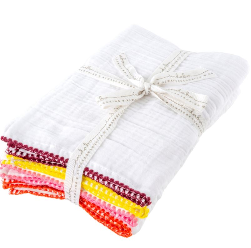 Stitched Edge Tea Towels Set of 4 - 2 Colors