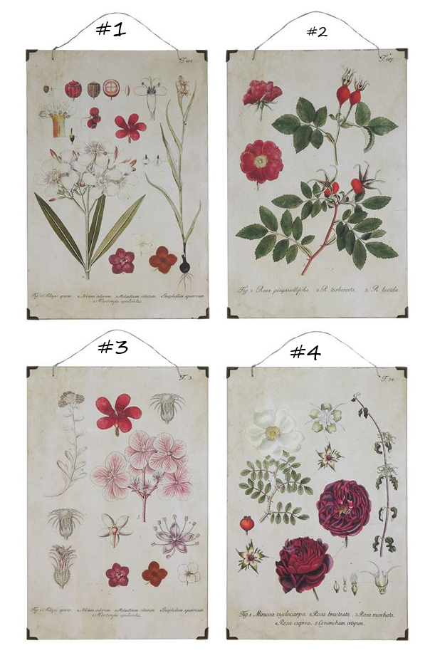 Vintage Floral Wood Wall Decor - 4 Styles