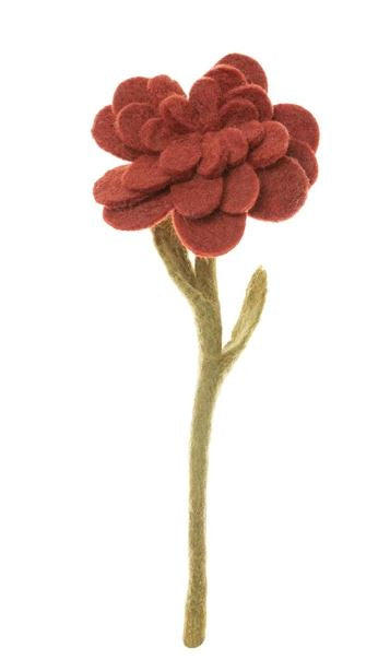 Felt Zinnia - 6 Colors