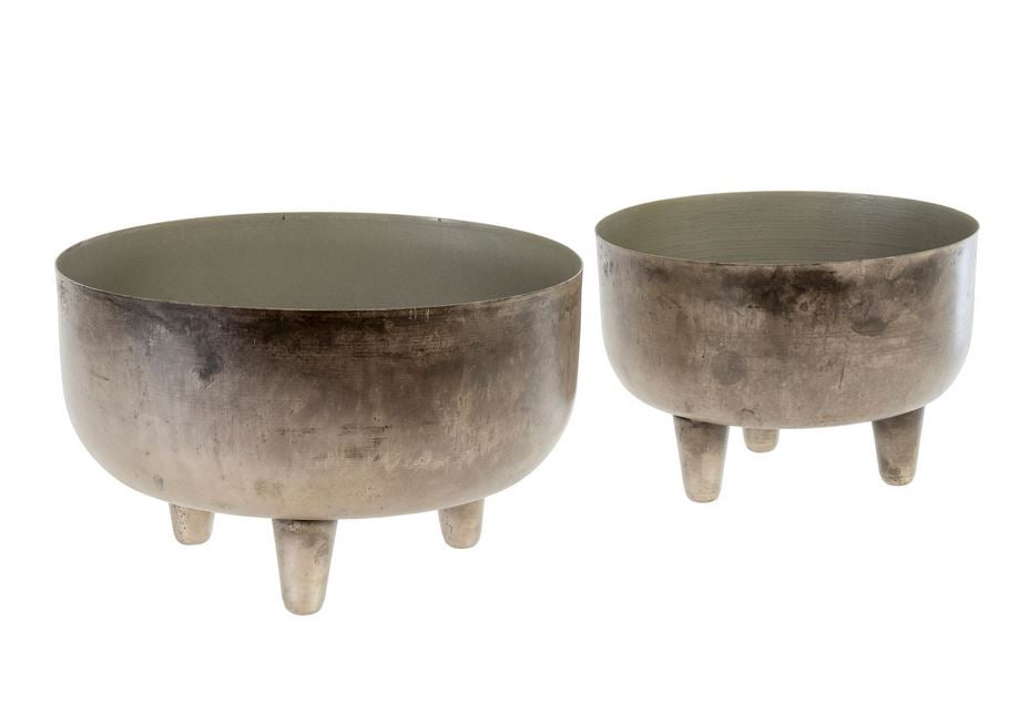 Footed Patina Planter - 2 Sizes
