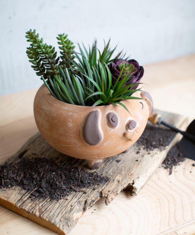 Clay Animal  Planter - 2 Styles