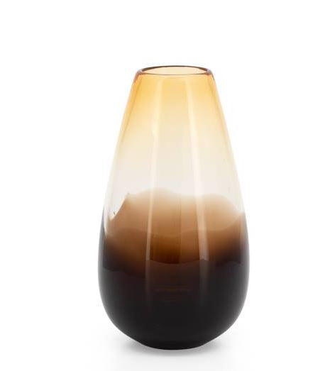 Amber/Brown Ola Ombre Glass Bullet Vase - 2 Sizes
