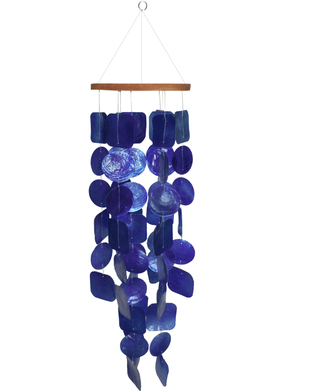 Deep Blue Sea Capiz Chime