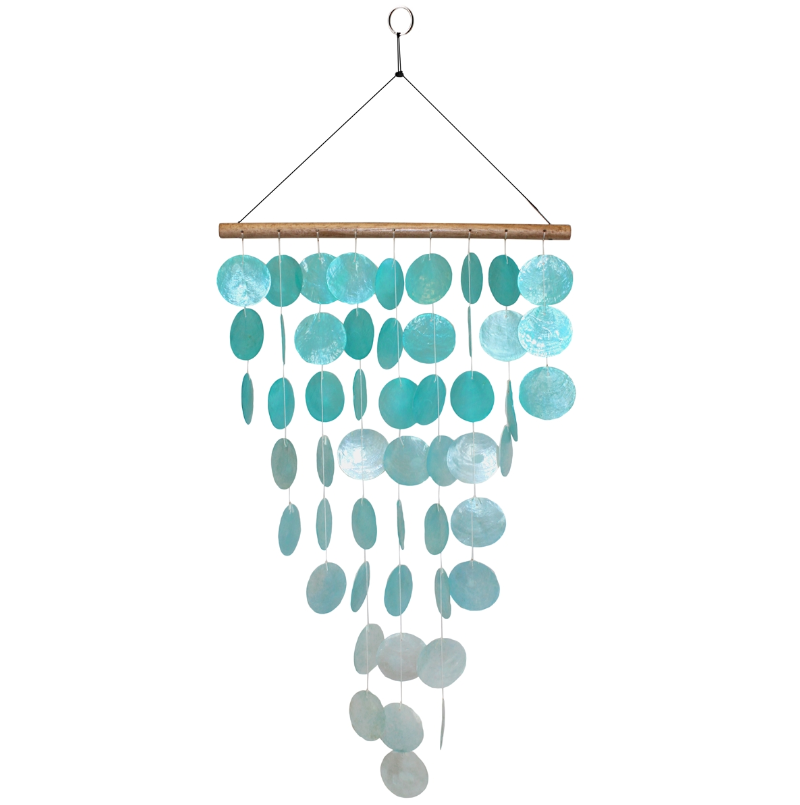 Aqua Waterfall Capiz Chime - 2 Styles