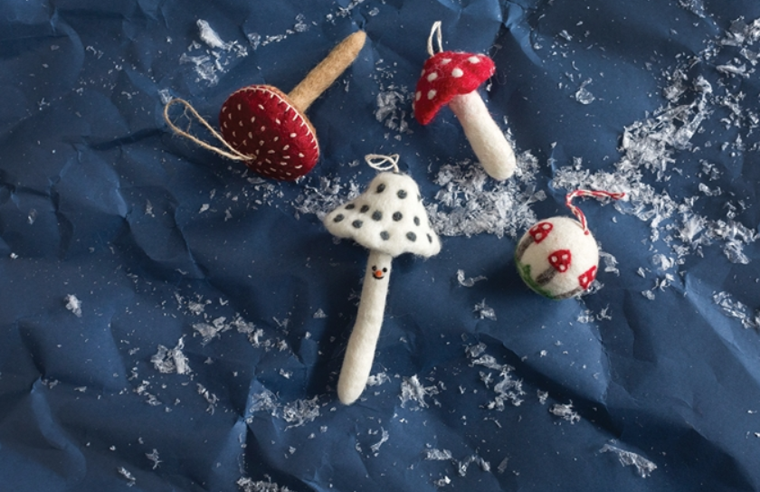 Fun Fungi Ornament - 4 Styles