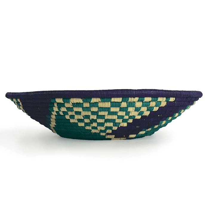 Teal Check Gallery Basket