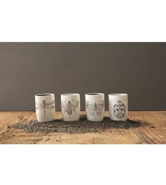 Stoneware Insect Tumblers - 4 Styles