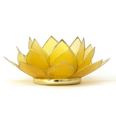 Mini Gemstone Lotus Tealight Holder - 11 Colors