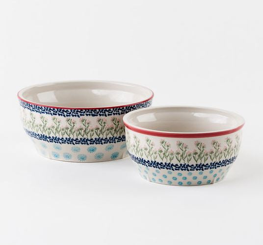 Set of 2 Chelsea Park Nesting Stoneware Serving Bowls