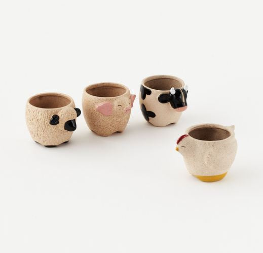 Copy of Farm Animal Plant Pot With Plant
