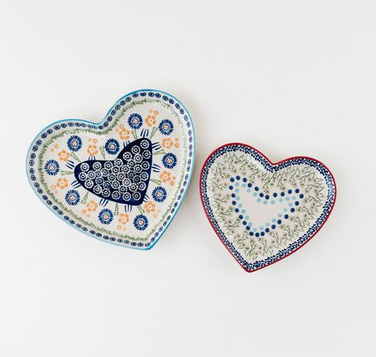 Chelsea Park Stoneware Heart Plates - 2 Sizes