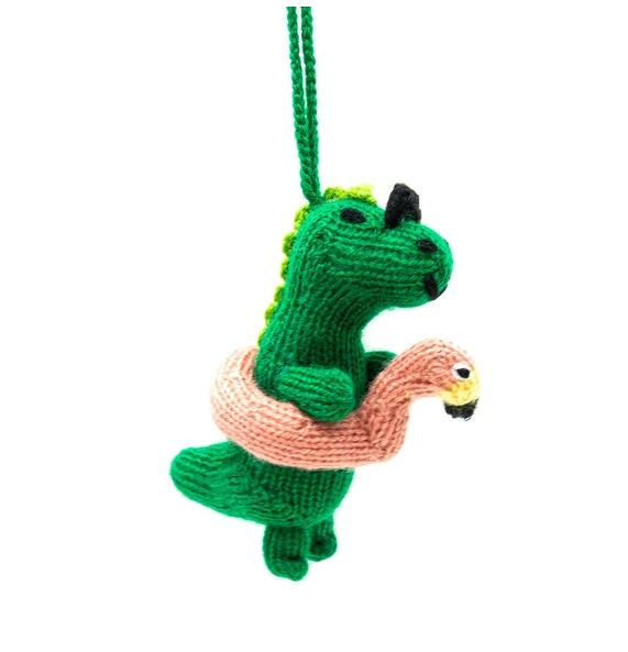 Party Knitted Dinosaur Ornament