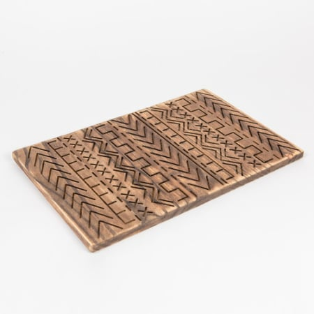 Engraved Wooden Tribal Tray