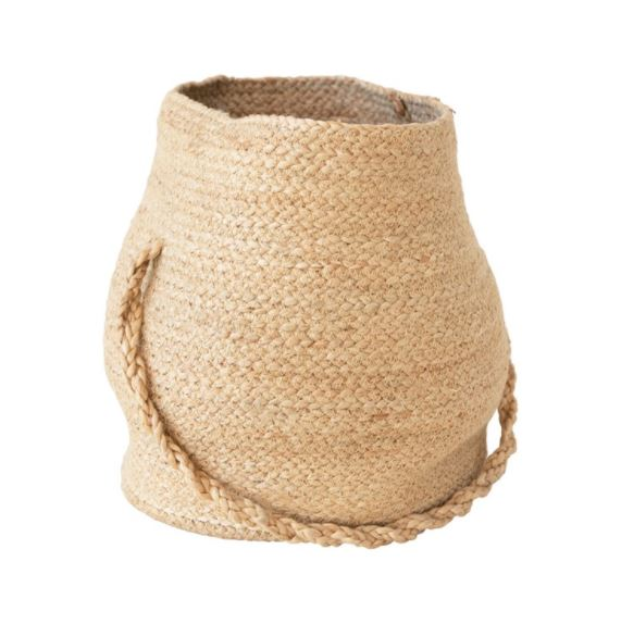 Round Jute Basket with Handle