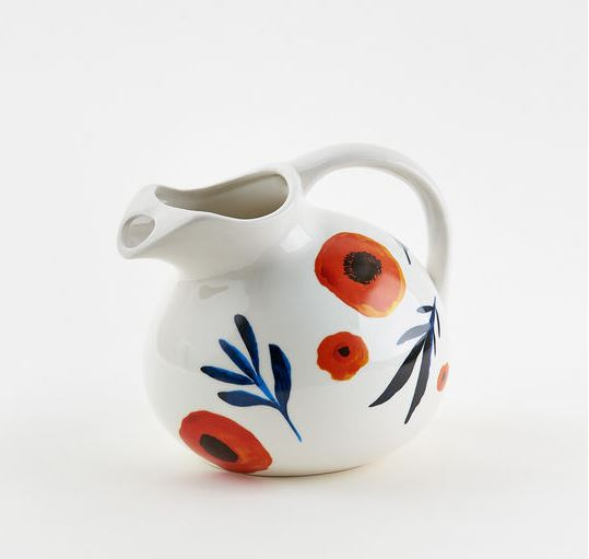 Poppy Stoneware Pitcher