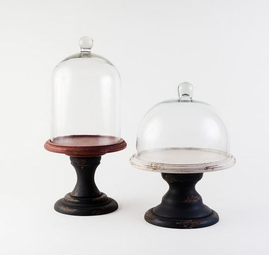 Glass Dome with Wood Stand - 2 Sizes