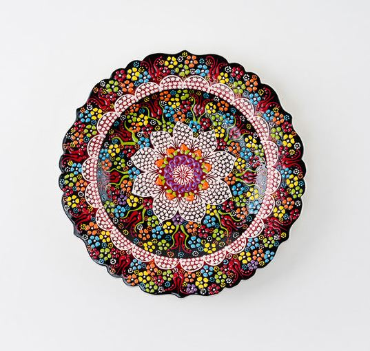 Hand Painted Ceramic Ottoman Plate