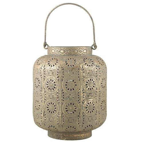 Driss Antique Gold Metal Lantern