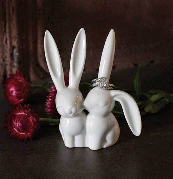 Ceramic Bunny Ring Holder