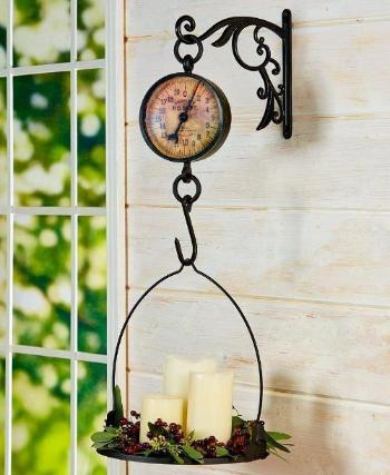 Antiqued Farmhouse Rustic Hanging Scale