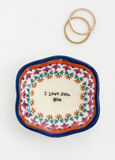 I Love you Mom Mini Artisan Trinket Dishes