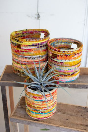 Recycled Kantha Hampers - 3 Sizes