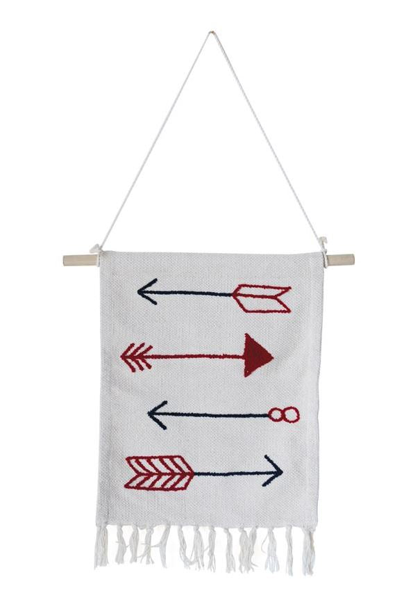 Cotton Wall Hanging with Arrows