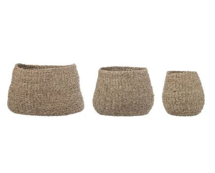 Natural Seagrass Baskets - 3 Sizes