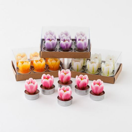 Tulip TeaLight Candles - 4 Colors