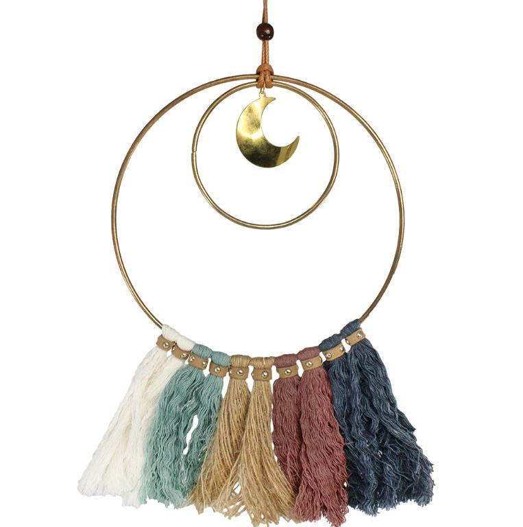 Double Ringed Moon & Tassels Hanging