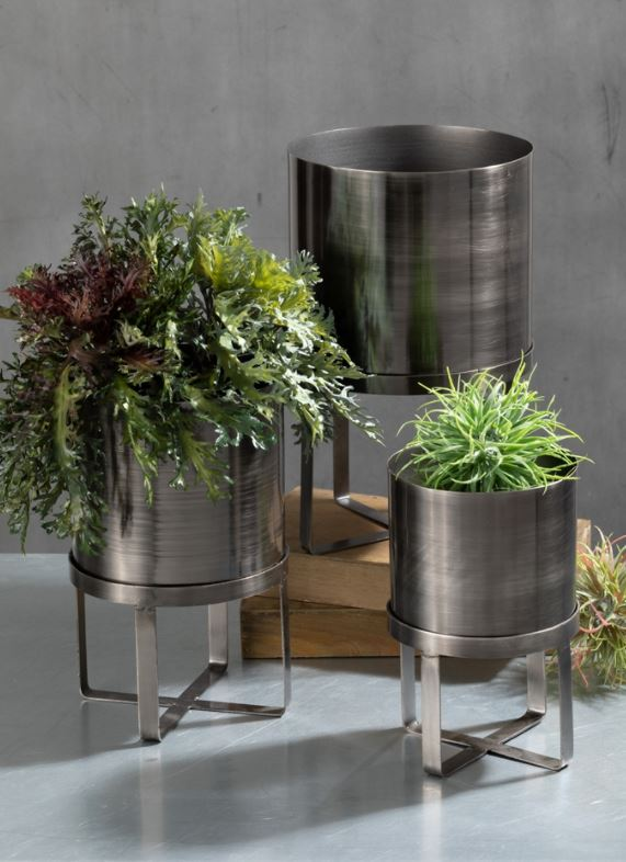 Galvanized Iron Standing Planters - 3 Sizes