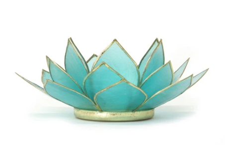 Gemstone Lotus Tealight Holder - 11 Colors