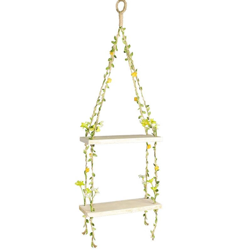 Flower Vine & Butterfly Wood Shelves - 2 Sizes