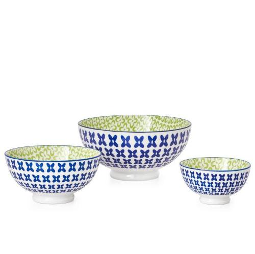 Kiri Porcelain Pansy Bowl - 3 Sizes