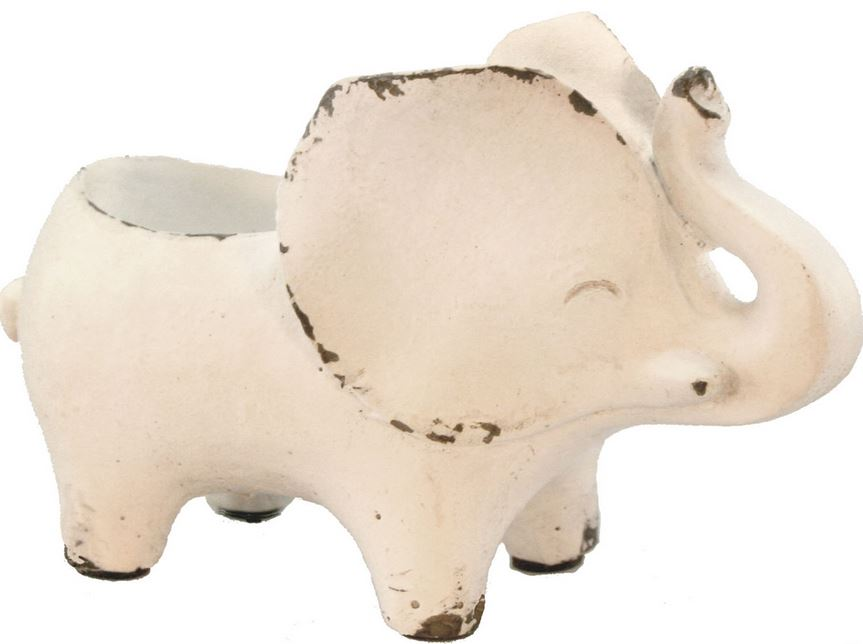 Ceramic Elephant Planter - 2 Styles