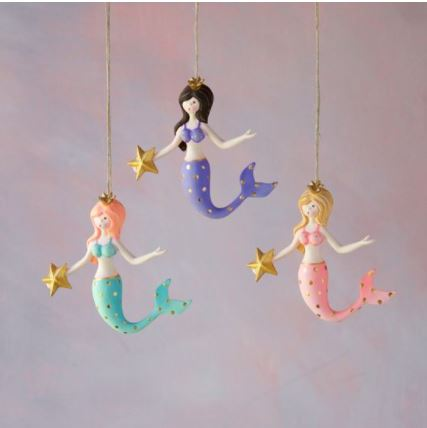 Colorful Mermaid Ornament - 3 Styles