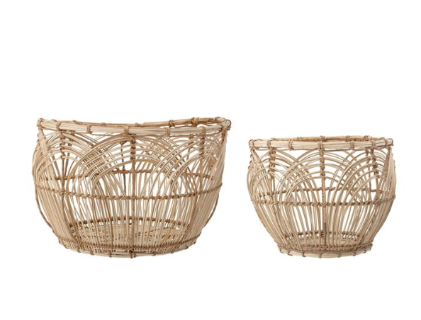 Natural Rattan Baskets - 2 Sizes