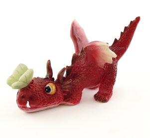 Dragon with Ladybug or Butterfly - Garden to Go Figurine