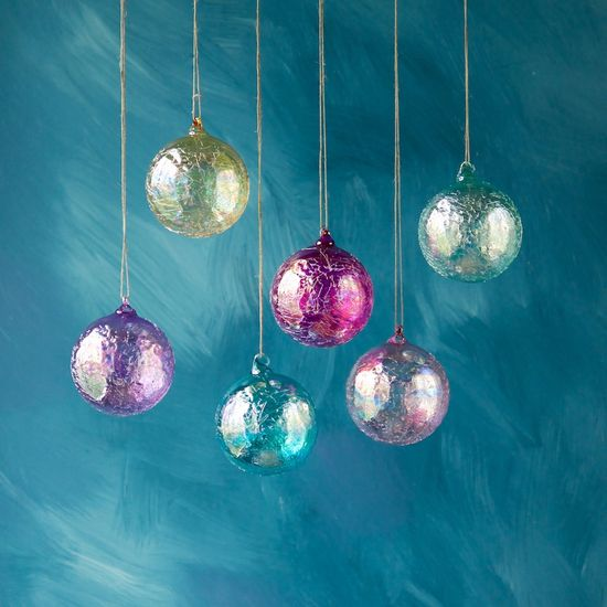 Ripple Iridescent Ball Ornament, 6 Colors