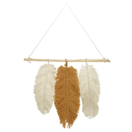 Handmade Feather Wall Hanging