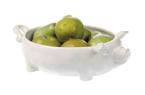 White Ceramic Pig Bowl