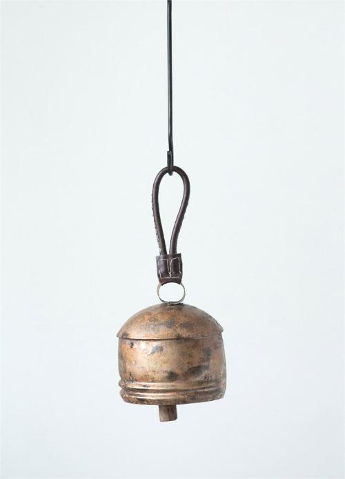 Metal Bell with Leather Handle
