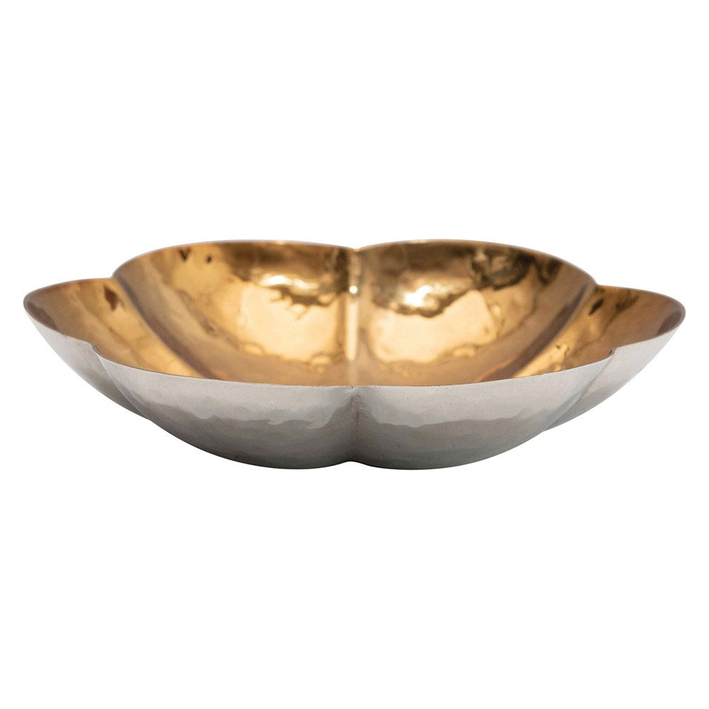Round Stainless Steel Flower Shaped Dish