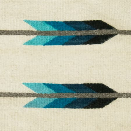 "16"" x 16"" Two Arrow Wool Pillow Cover - Ivory/Blue"