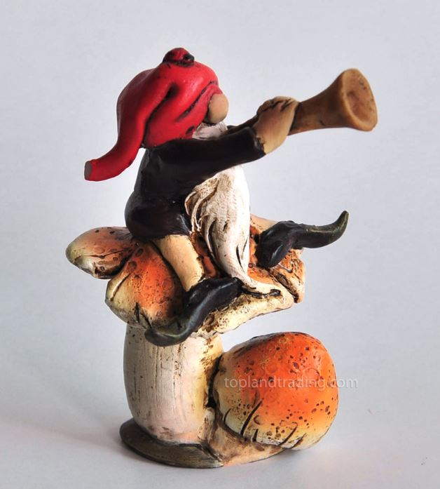 Gnome on Mushroom - Garden to Go Figurine